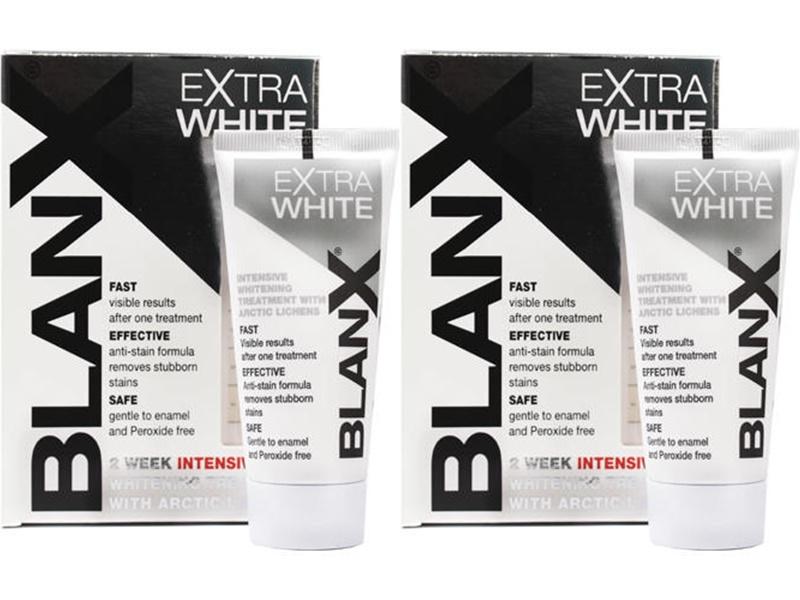 Blanx Набор Extra White Зубная паста Про-Интенсивно отбеливающая*2 штуки (Blanx, Зубные пасты Blanx) blanx набор pro glossy pink зубная паста про глянцевый эффект 2 штуки blanx зубные пасты blanx