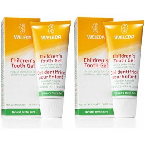 Купить Weleda Комплект Детская зубная паста-гель 2х50 мл (Weleda, Уход за полостью рта), Германия
