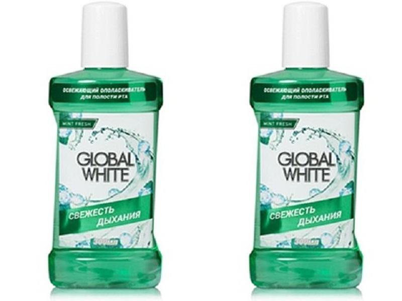 Купить Global white Набор Освежающий ополаскиватель 300 мл*2 штуки (Global white, Ополаскиватели), Италия