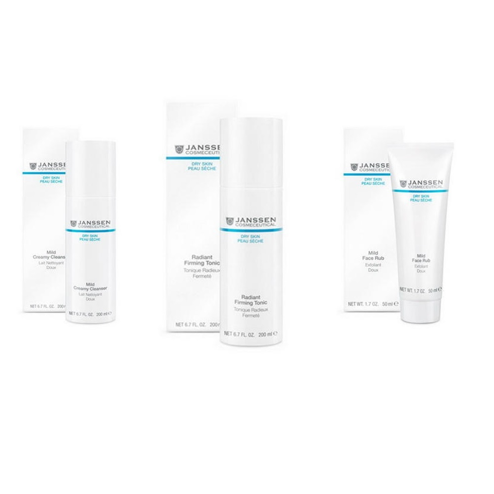 Купить Janssen Cosmetics Набор Глубокое очищение и тонизация для любого типа кожи , 3 продукта (Janssen Cosmetics, Dry Skin), Германия
