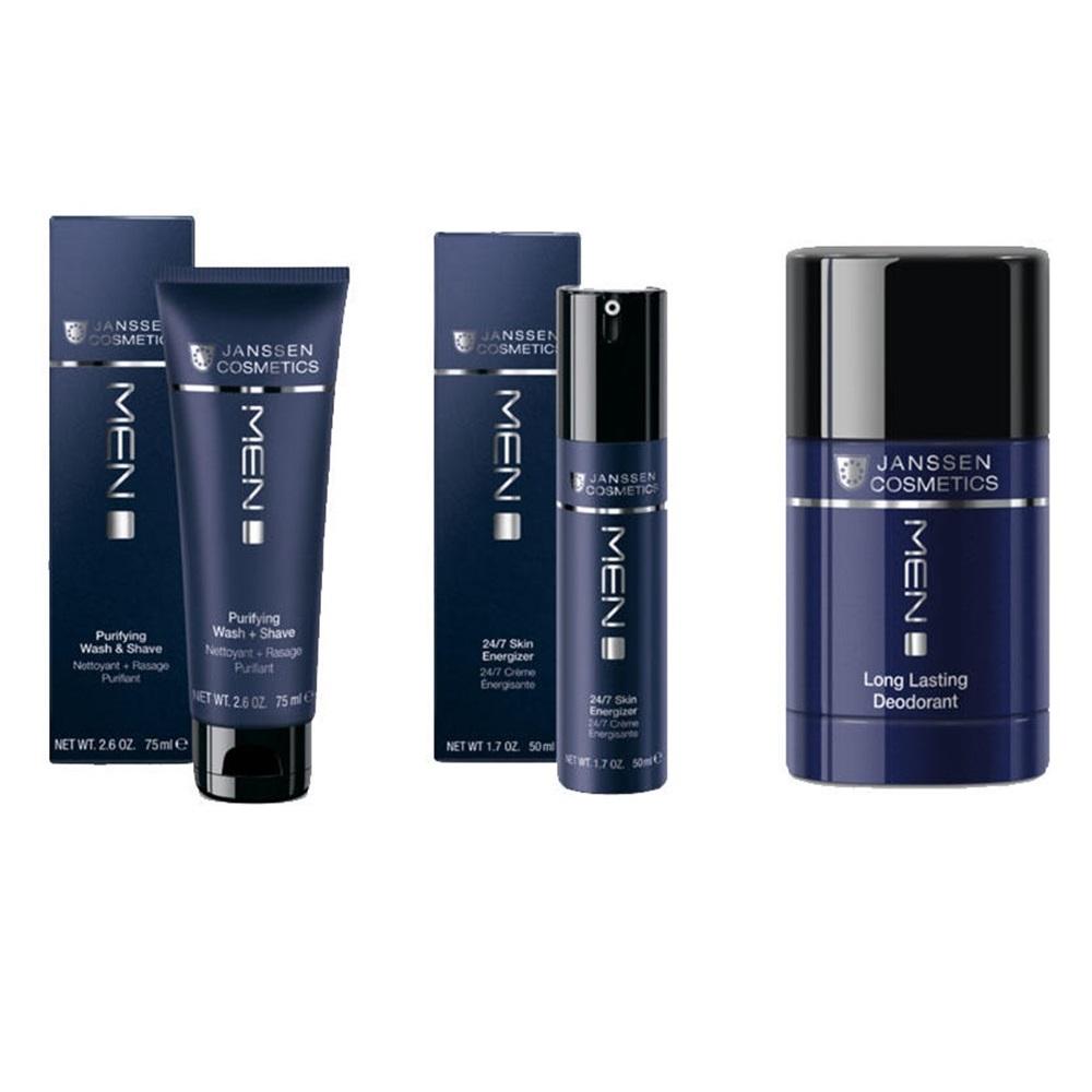 Купить Janssen Cosmetics Набор Очищение и уход для мужчин , 3 продукта (Janssen Cosmetics, Men), Германия