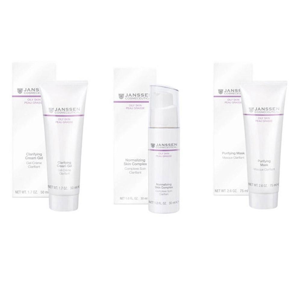 Janssen Cosmetics Набор Комплексный уход Себоконтроль , 3 продукта (Janssen Cosmetics, Oily skin), Германия  - Купить