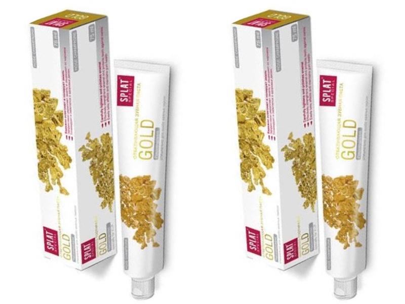 Splat Набор Splat Отбеливающая зубная паста Золото 75 мл*2 штуки (Splat, Special)