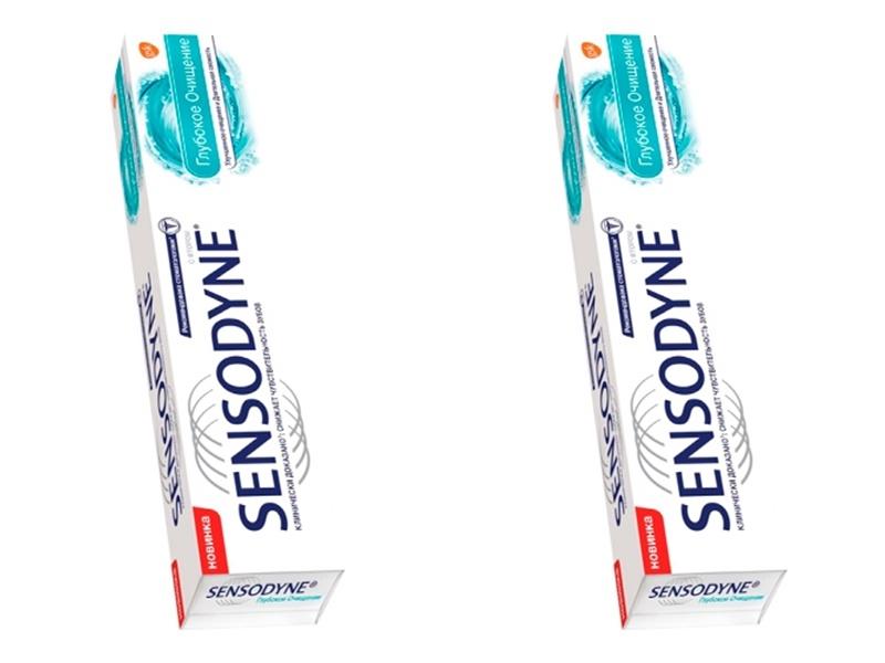 Sensodyne Набор Зубная паста Сенсодин Глубокое Очищение 75 мл*2 штуки (Sensodyne, Зубные пасты) глубокое очищение три актив 3в1 125мл vichy normaderm