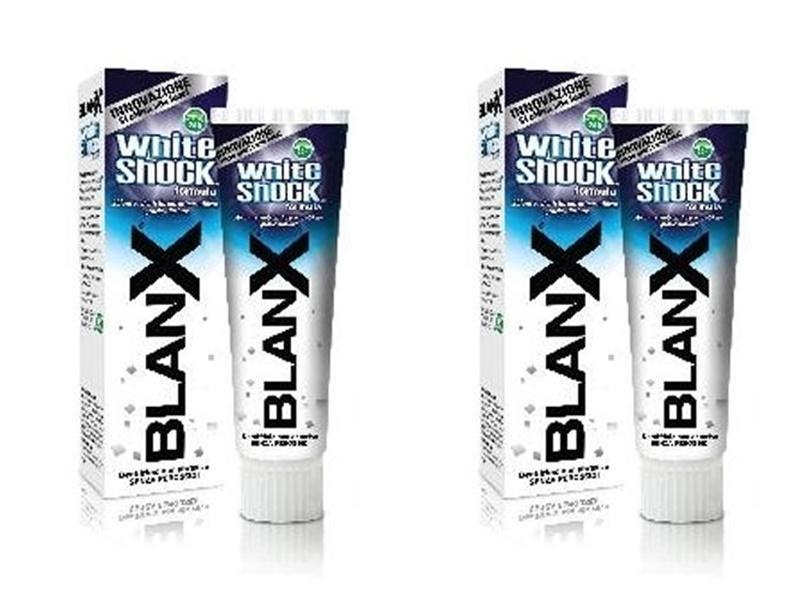 Купить Blanx Набор Зубная паста отбеливающая Вайт Шок 75мл*2 штуки (Blanx, Зубные пасты Blanx), Италия