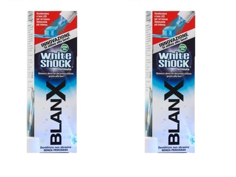 Blanx Набор Зубная паста отбеливающая Вайт шок со светдиодным активатором 50мл*2 штуки (Blanx, Специальный уход Blanx)