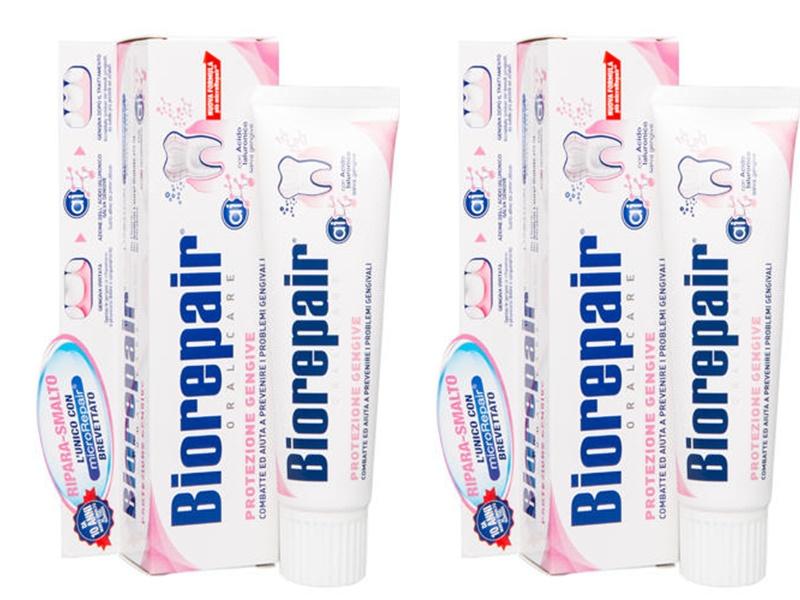 Купить Biorepair Набор Gum Protection Зубная паста для защиты десен 75 мл*2 штуки (Biorepair, Ежедневная забота), Италия