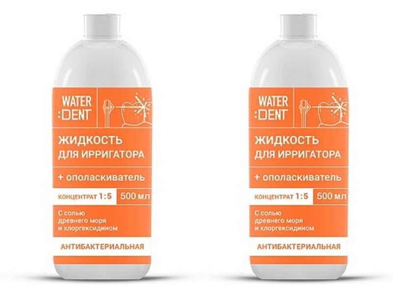 Global white Набор Жидкость для ирригатора, антибактериальный комплекс 500 мл*2 штуки (Global white, Waterdent) фото