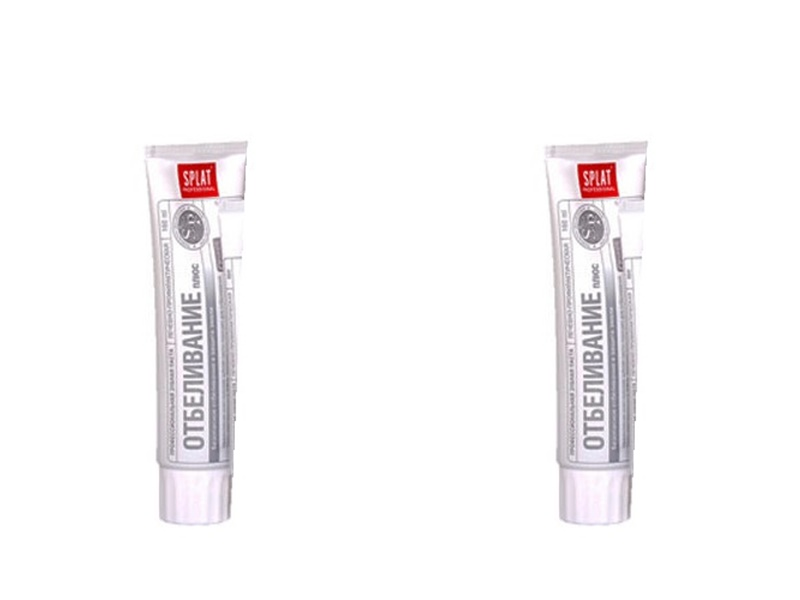 Splat Набор Лечебно-профилактическая профессиональная мини-версия зубной пасты Отбеливание плюс 40 мл*2 штуки (Splat, Professional)