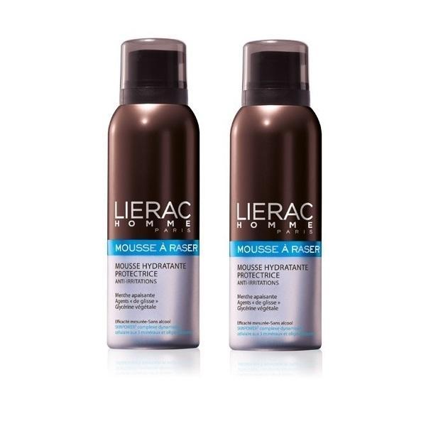 Lierac Комплект Разаж экспресс увлажняющий мусс для бритья, препятствующий раздражению 2х150мл (Lierac, Lierac Homme) lierac от целлюлита купить