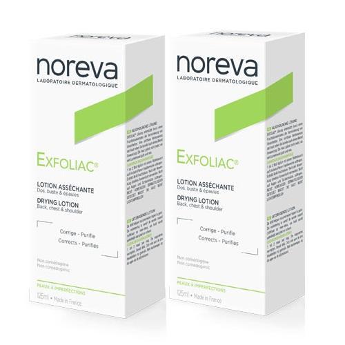 Noreva Комплект Эксфолиак Лосьон с высоким содержанием АНА 2х125 мл (Noreva, Exfoliac) эксфолиак акномега 100 купить москва