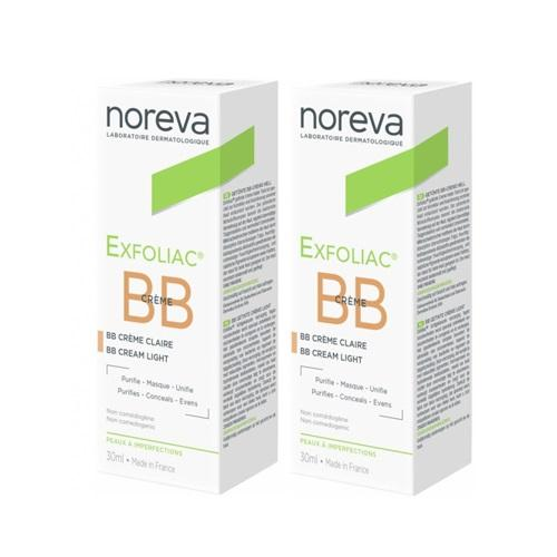 Noreva Комплект Эксфолиак ВВ крем, светлый тон, 2х30 мл (Noreva, Exfoliac)