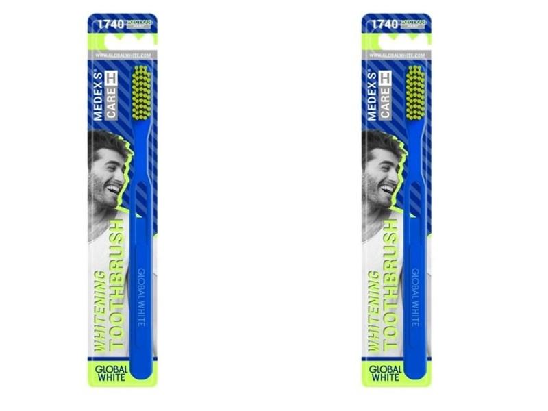 Купить Global white Набор Зубная щетка Hard жесткая 1 шт.*2 штуки (Global white, Зубные щетки), Италия