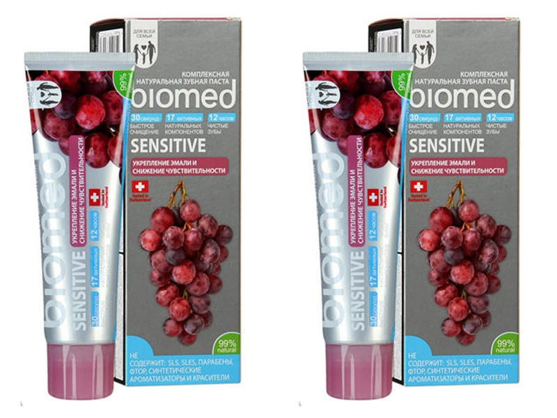 Splat Набор BioMed Сенситив зубная паста 100 мл*2 штуки (Splat, Biomed) крем 3x15 мл biomed