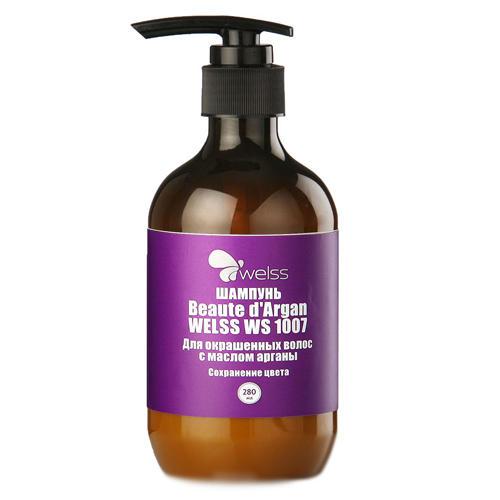 Шампунь для окрашенных волос с маслом арганы Beaute dArgan 280 мл (Welss, Роскошные волосы) sea of spa шампунь для окрашенных поврежденных волос с маслом аргании и ростками пшеницы 400 мл