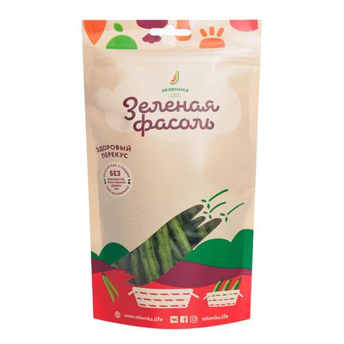 Зеленика Овощной здоровый перекус Зеленая фасоль, 30 г (Зеленика)