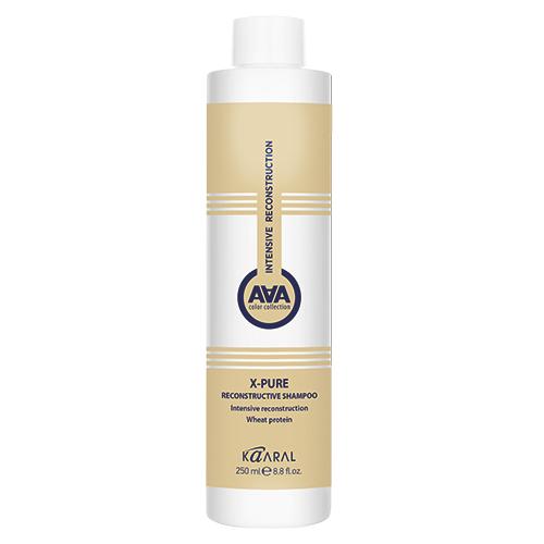 Купить Kaaral Восстанавливающий шампунь для поврежденных волос с пшеничными протеинами X-Pure Reconstructive Shampoo, 250 мл (Kaaral, X-Form), Италия