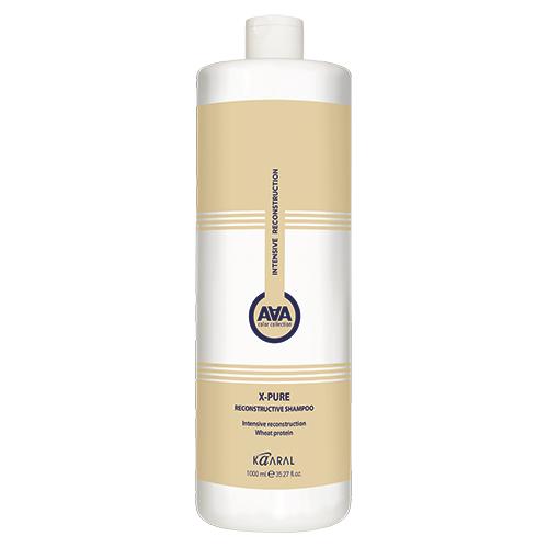 Kaaral Восстанавливающий шампунь для поврежденных волос с пшеничными протеинами X-Pure Reconstructive Shampoo, 1000 мл (Kaaral, X-Form)
