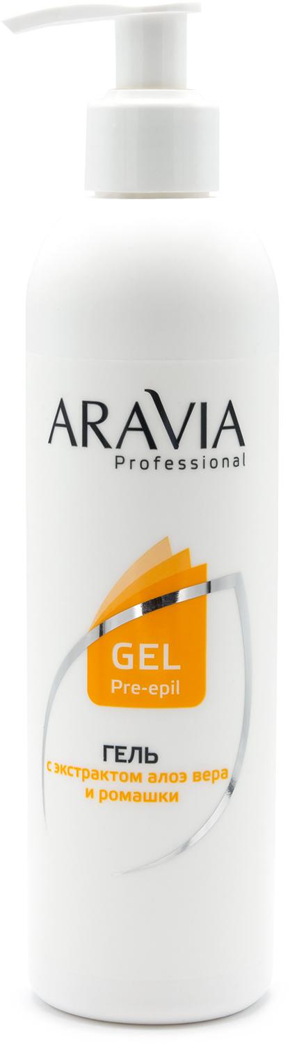Aravia professional Aravia Professional Гель для обработки кожи перед депиляцией с экстрактами алоэ вера и ромашки, 300 мл (Aravia professional, Spa Депиляция) депиляция