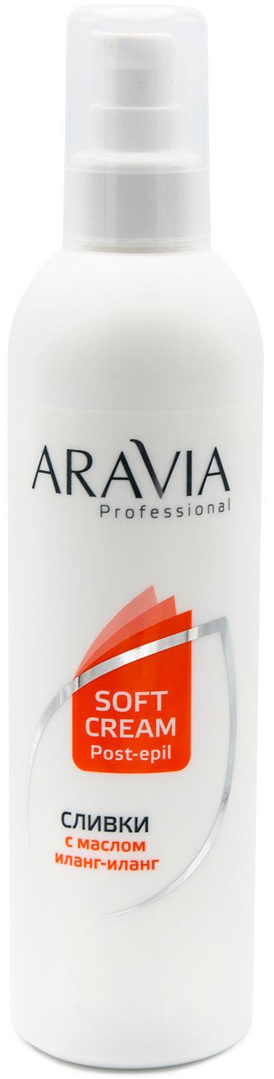 Купить Aravia Professional Сливки для восстановления рН кожи с маслом иланг-иланг, 300 мл (Aravia Professional, Spa Депиляция), Россия