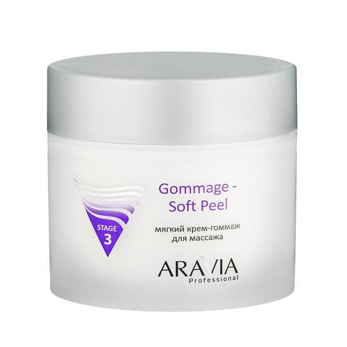 Gommage Soft Peel Мягкий кремгоммаж для массажа 300 мл (Aravia professional, Уход за лицом) modelage active cream крем для массажа 300 мл aravia professional уход за лицом
