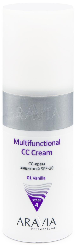 Купить Aravia Professional CC-Крем защитный SPF-20 multifunctional CC cream vanilla01, 150 мл (Aravia Professional, Уход за лицом), Россия