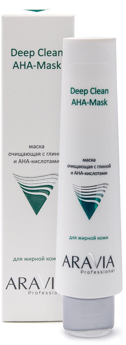 Купить Aravia Professional Маска очищающая с глиной и AHA-кислотами для лица Deep Clean AHA-Mask, 100 мл (Aravia Professional, Уход за лицом), Россия