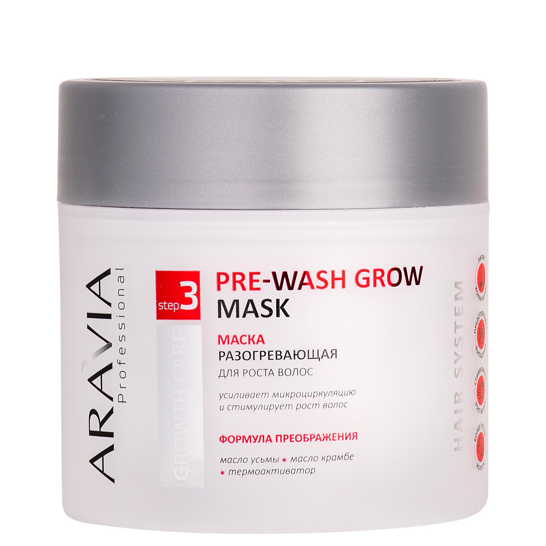 Купить Aravia Professional Маска разогревающая для роста волос Pre-wash Grow Mask, 300 мл (Aravia Professional, Уход за волосами), Россия