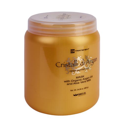 Brelil Professional Маска для волос с маслом аргании и молочком алоэ, 1000 мл (Brelil Professional, Argan Oil Crystals) фото