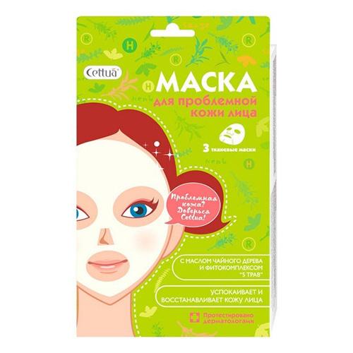 Купить Cettua Маска для проблемной кожи, с маслом чайного дерева, 3 шт (Cettua, Для лица), https://www.pharmacosmetica.ru/files/pharmacosmetica/reg_images/bag597554.jpg