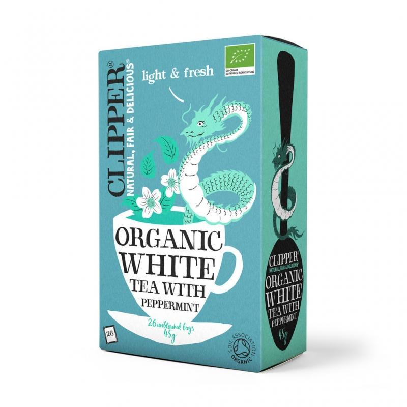 цена Белый чай с Мятой Органик (Clipper, White Tea)