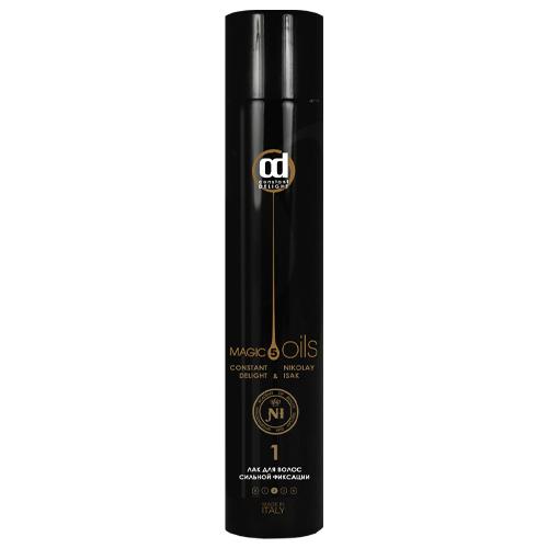 Купить Constant Delight Лак для волос сильной фиксации №1 без запаха 400 мл Черный (Constant Delight, 5 масел), Италия