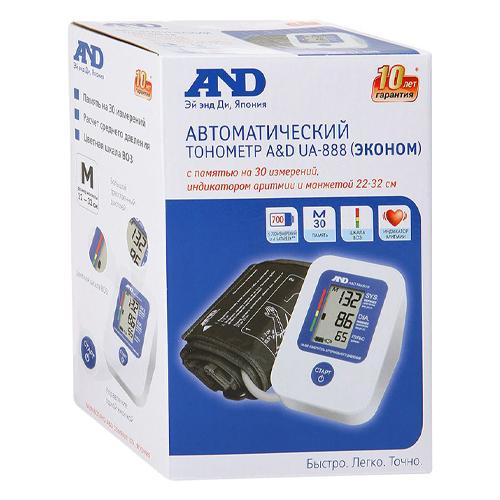 AND Тонометр UA-888E автомат без адаптера манжета 22-32 см (AND, Тонометр автоматический) фото