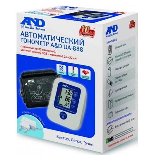 AND Тонометр UA-888AC автомат с адаптером манжета 23-37 см (AND, Тонометр автоматический) фото