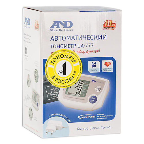 AND Тонометр UA-777 автомат с адаптером (AND, Тонометр автоматический) фото