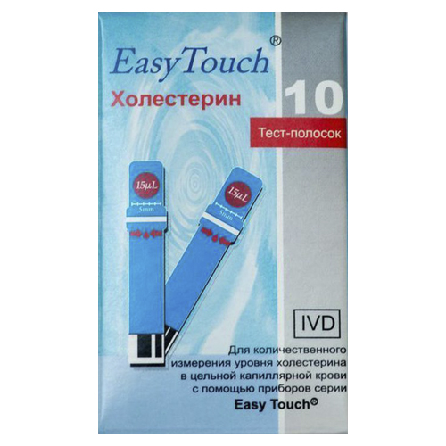 цена на EasyTouch Тест-полоски Холестерин N10 блистер (EasyTouch, Тест-полоски)