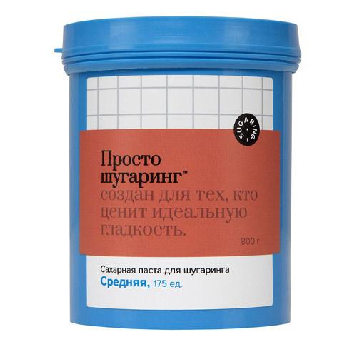 Gloria Сахарная паста для депиляции средняя Просто Шугаринг 0,8 кг (Gloria, Шугаринг) аравия шугаринг официальный