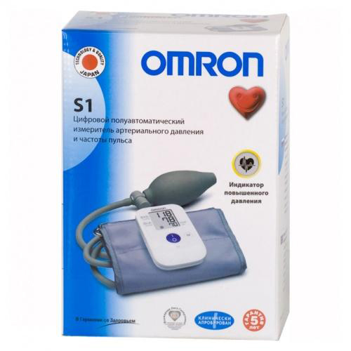 Omron Тонометр S1 полуавтомат (Omron, Тонометр полуавтомат) фото