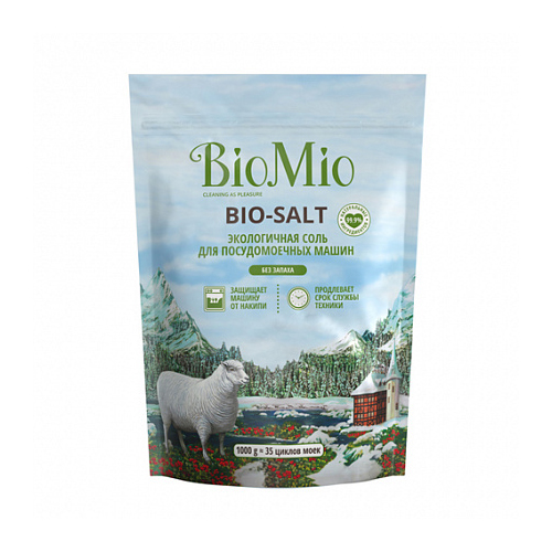 BioMio Соль экологичная для посудомоечных машин 1000 г (BioMio, Посуда) сушильные и гладильные машины
