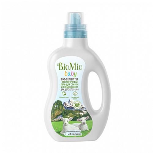 Купить BioMio Гель и кондиционер для стирки детского белья 1000 мл (BioMio, Стирка), Россия