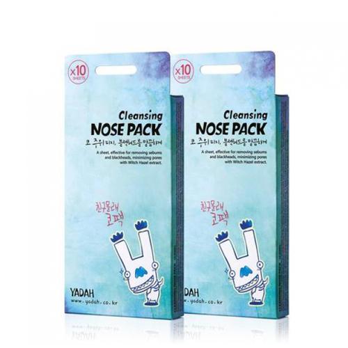 Полоски очищающие для носа набор 10 шт (Yadah, Очищение) маски очищающие поры