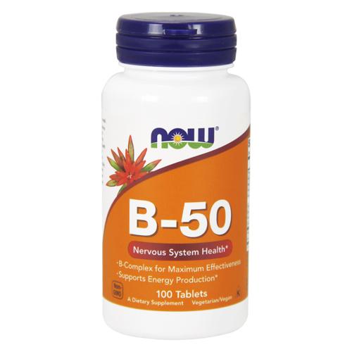 Now Foods В-50 Комплекс 100 таблеток (Now Foods, Витамины и пищевые добавки) фото