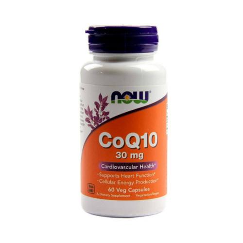 Now Foods Кофермент Q10, 30 мг,  60 капсул (Now Foods, Витамины и пищевые добавки)
