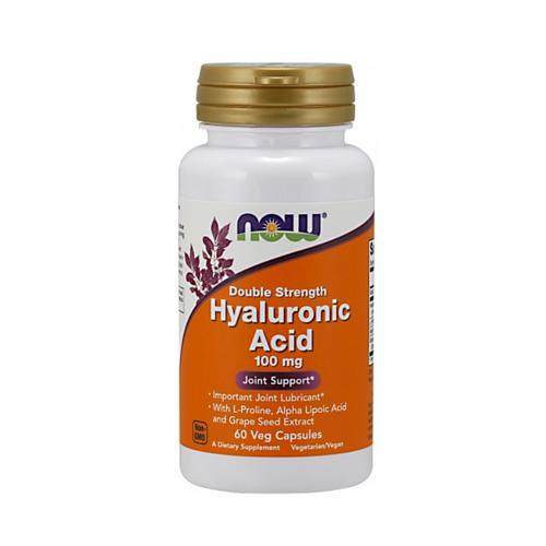Now Foods Гиалуроновая кислота двойной силы 60 капсул по 445 мг (Now Foods, Витамины и пищевые добавки) фото