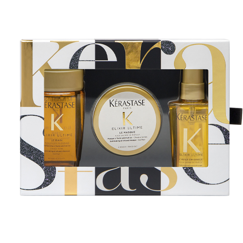 Набор Эликсир Ультим (шампунь 80 мл маска 75 мл масло 50 мл) (Kerastase, Elixir Ultime) масло для волос kerastase elixir ultime купить