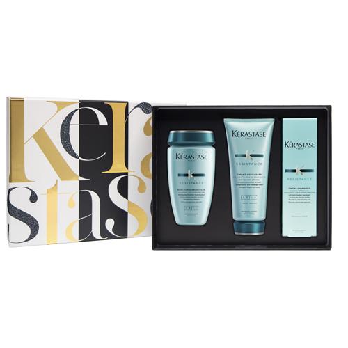 Набор Резистанс для поврежденных волос (шампунь 250 мл молочко 200 мл термоуход 150 мл) (Kerastase, Resistance) лак для волос kerastase купить