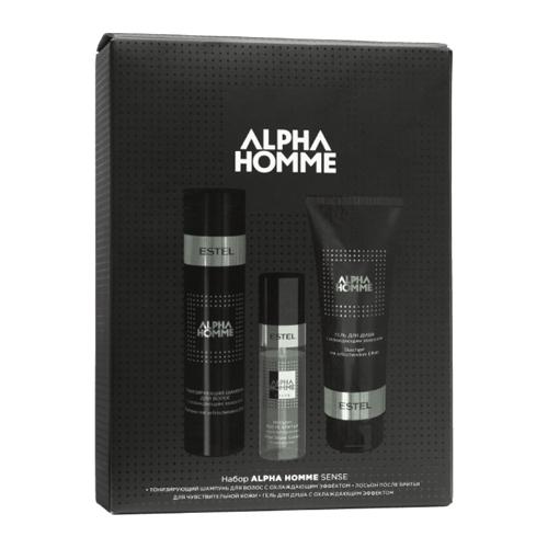 Набор Sense (шампунь для волос 250 мл гель для душа 250 мл лосьон после бритья 100 мл) (Estel, Alpha Homme)