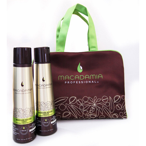 Macadamia Косметический набор Макадамия Питание и увлажнение в коричневой сумке 1 шт (Macadamia, Наборы)