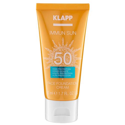 Солнцезащитный крем для лица с тональным эффектом 50 мл (Klapp, Immun Sun) солнцезащитный крем для лица виши