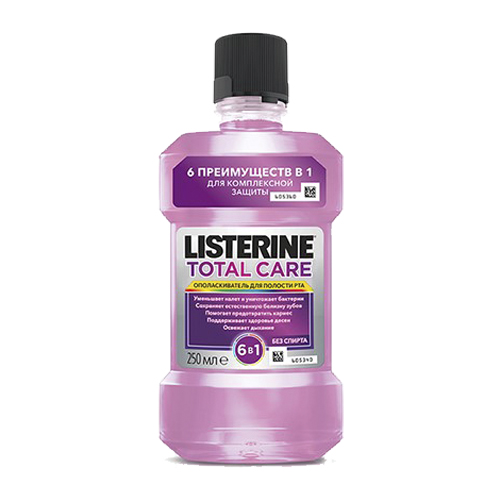 Listerine Ополаскиватель для полости рта Total Care 250 мл (Listerine, Ополаскиватели)